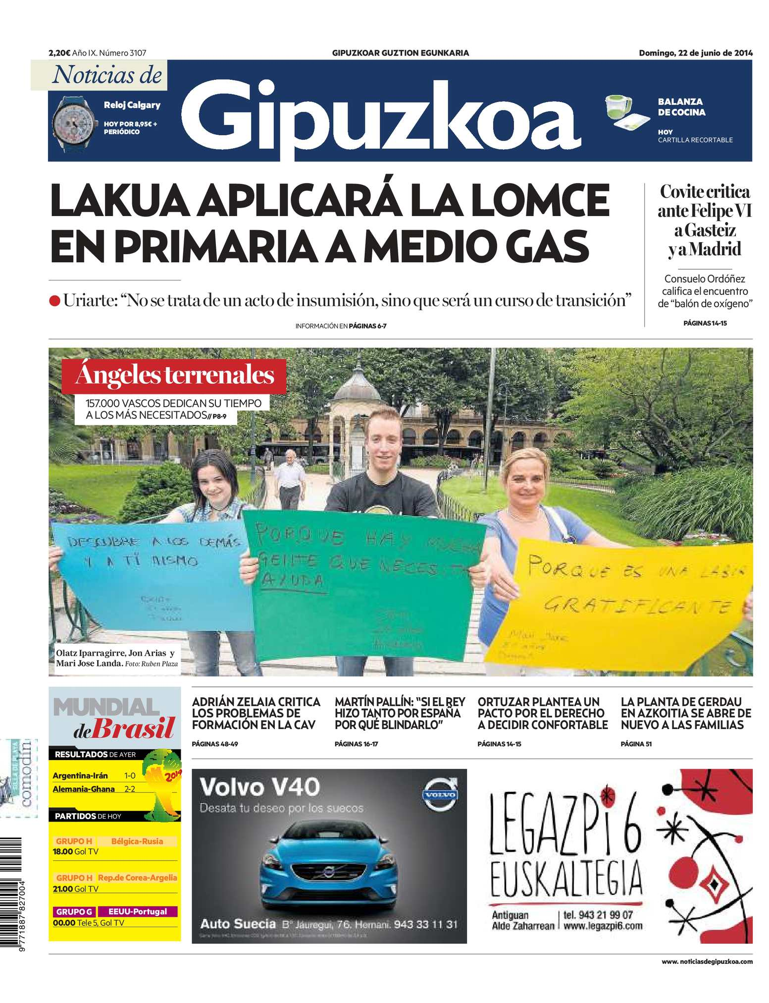 3ca048b11 Calaméo - Noticias de Gipuzkoa 20140622