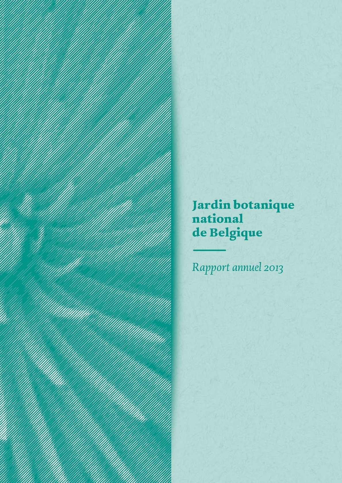 Calaméo - Rapport annuel 2013 (Français) - Jardin botanique ...