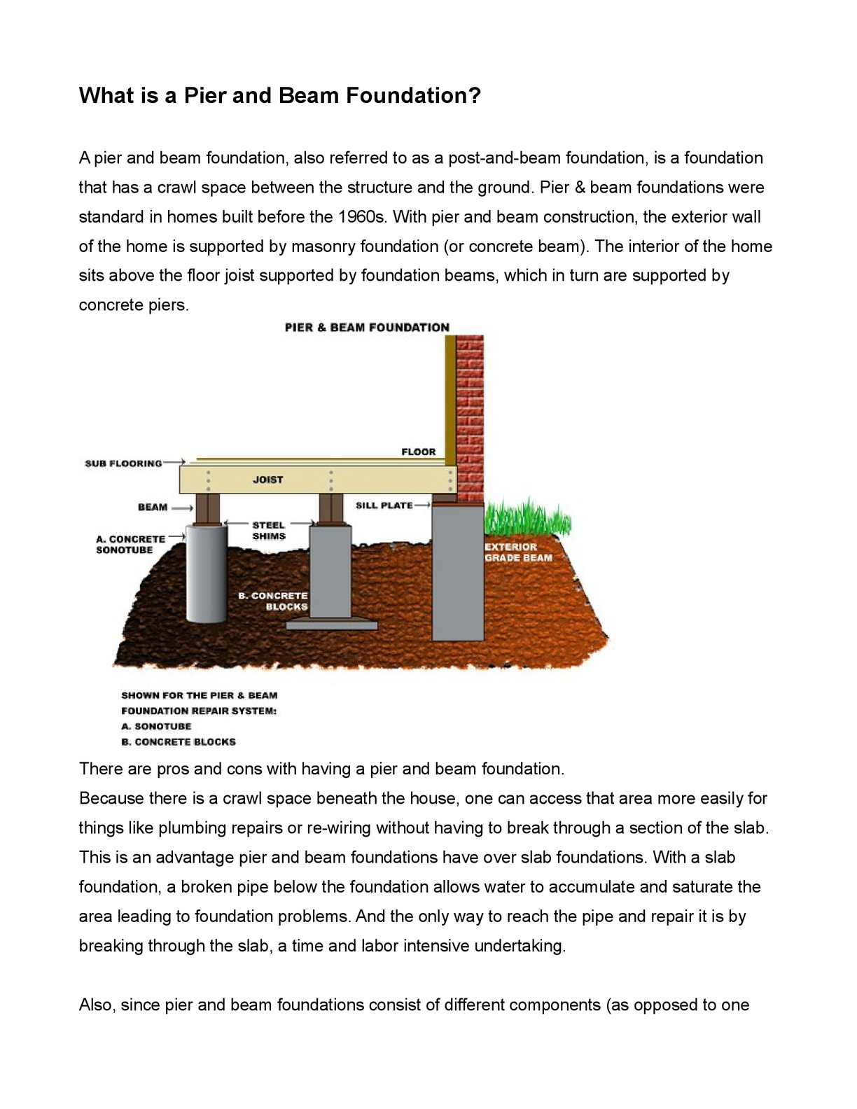 Calameo What Is A Pier And Beam Foundation