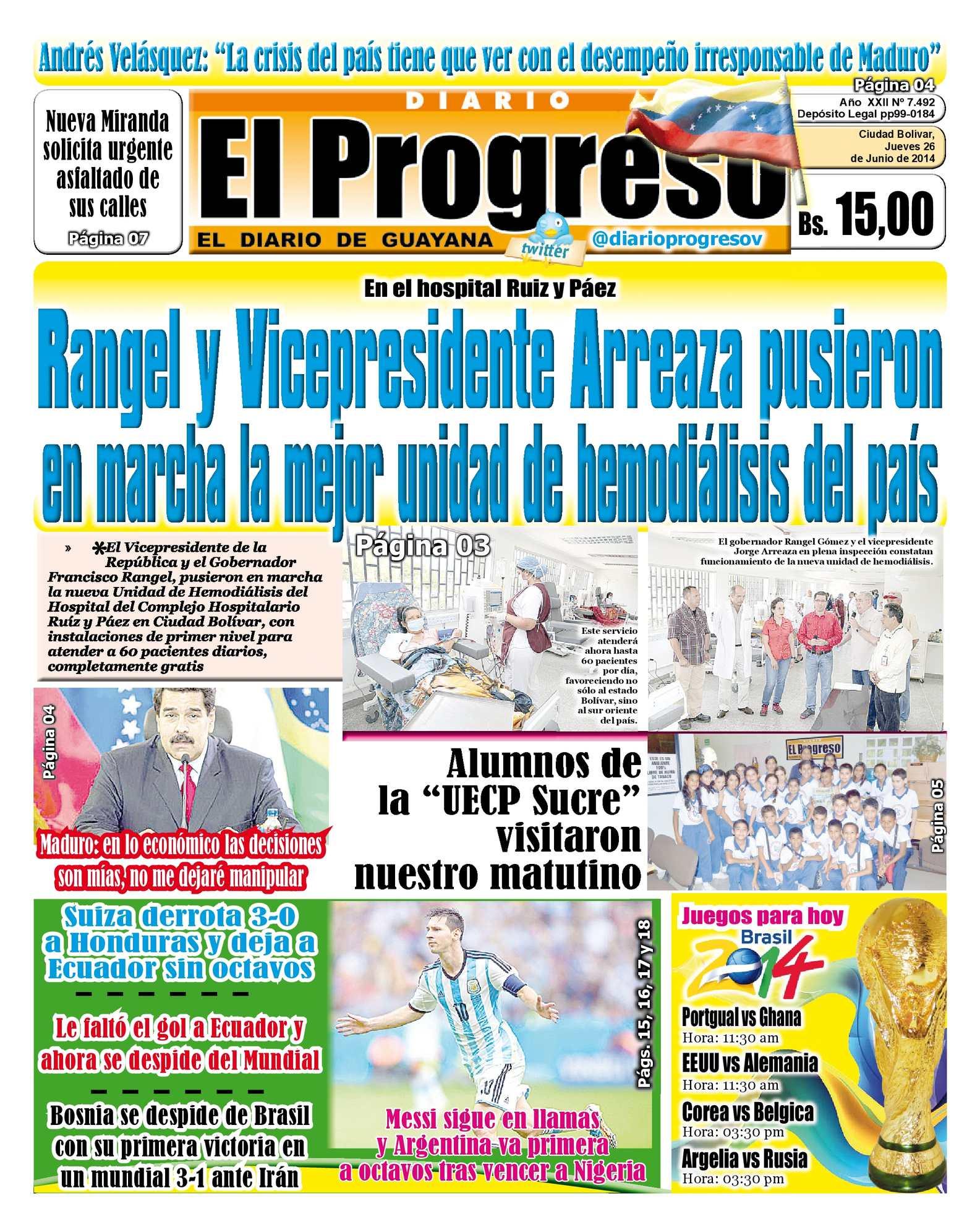 Calaméo - DIARIO EL PROGRESO EDICIÓN DIGITAL 26-06-2014 afa4f667e4e