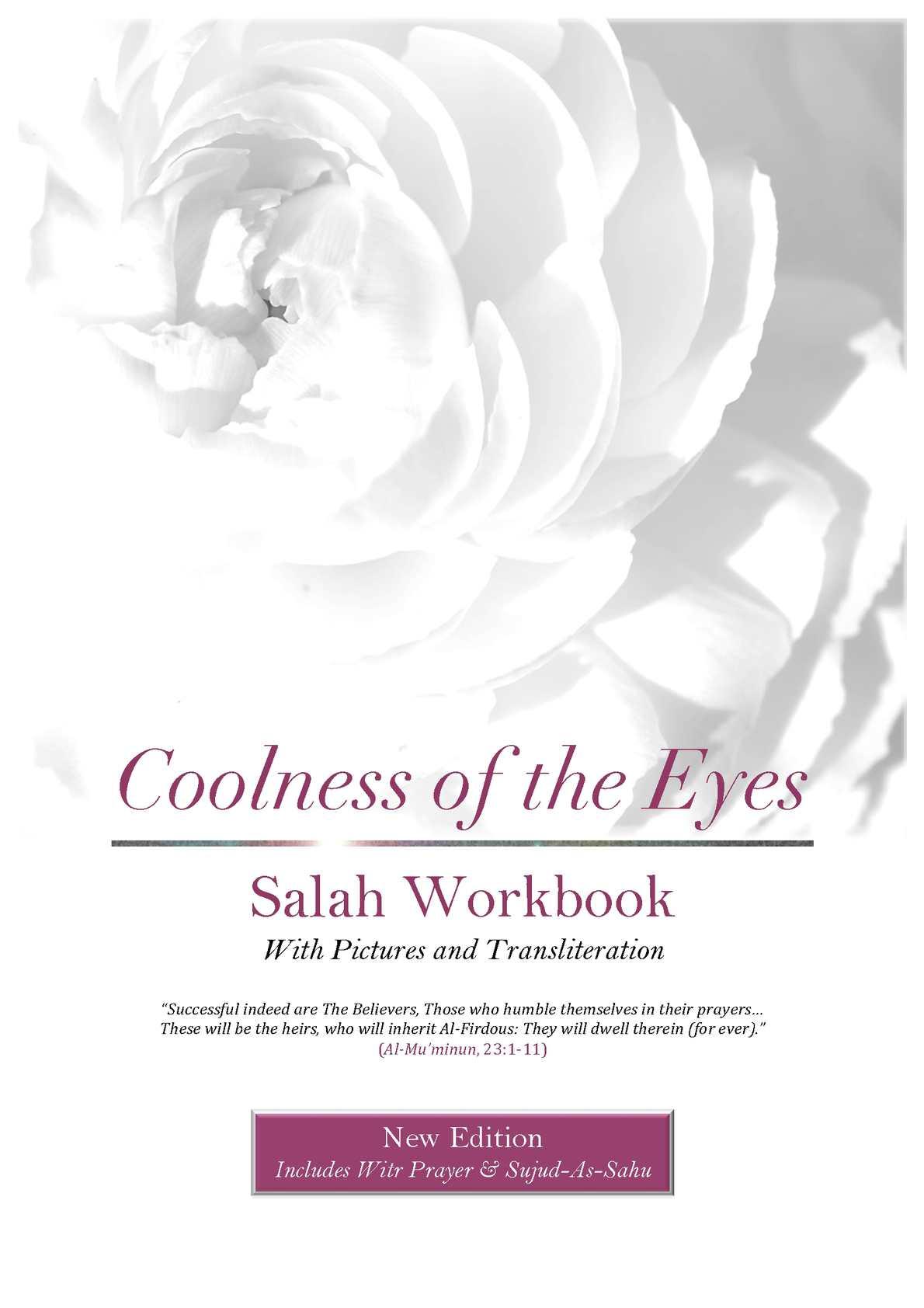 Calaméo - Coolness of the Eyes Salah Workbook