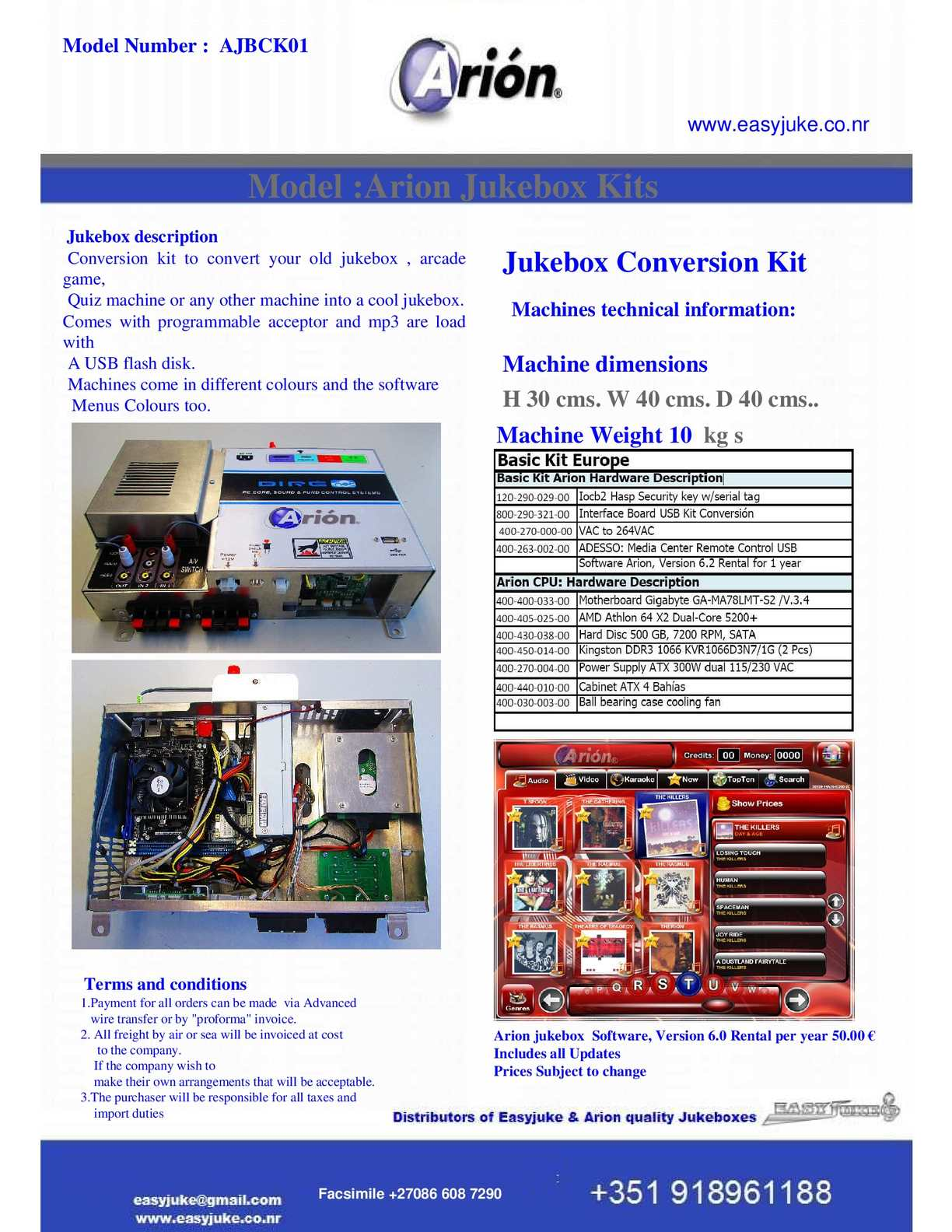 Calaméo - Arion Jukebox D I Y Kits Brochure