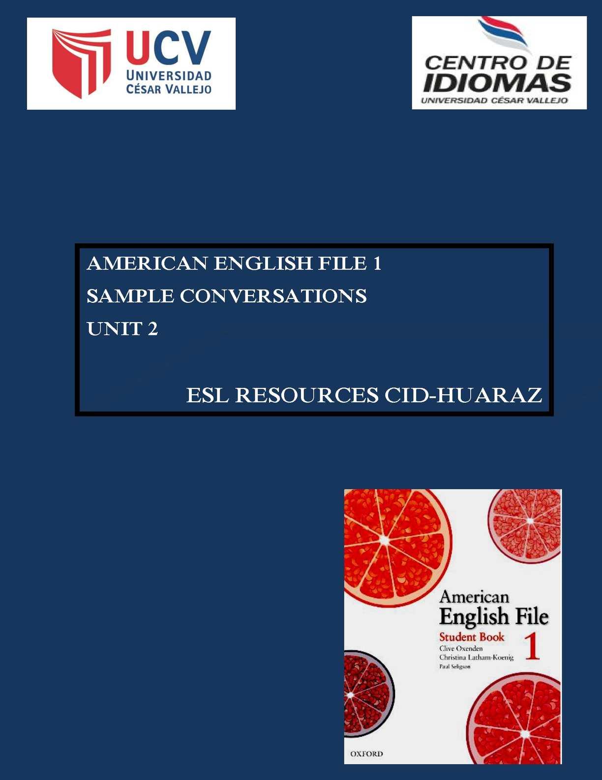 American English File 1 Student Book Gratis