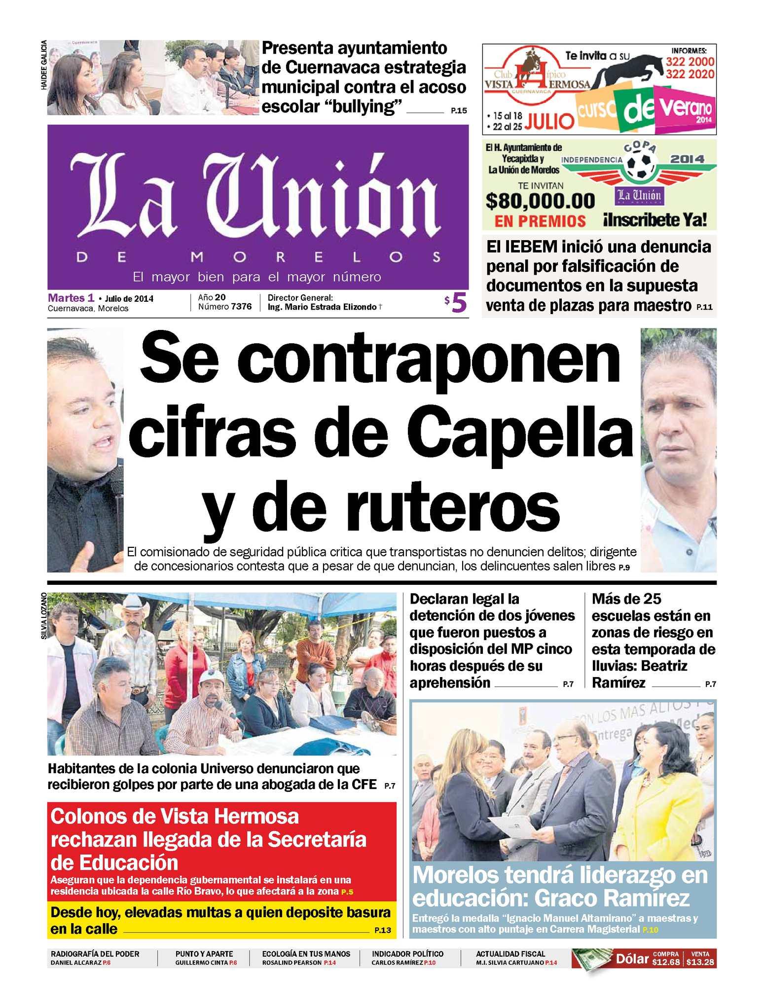 Calaméo - La Unión de Morelos 01 Julio 2014 ca625a9759d03