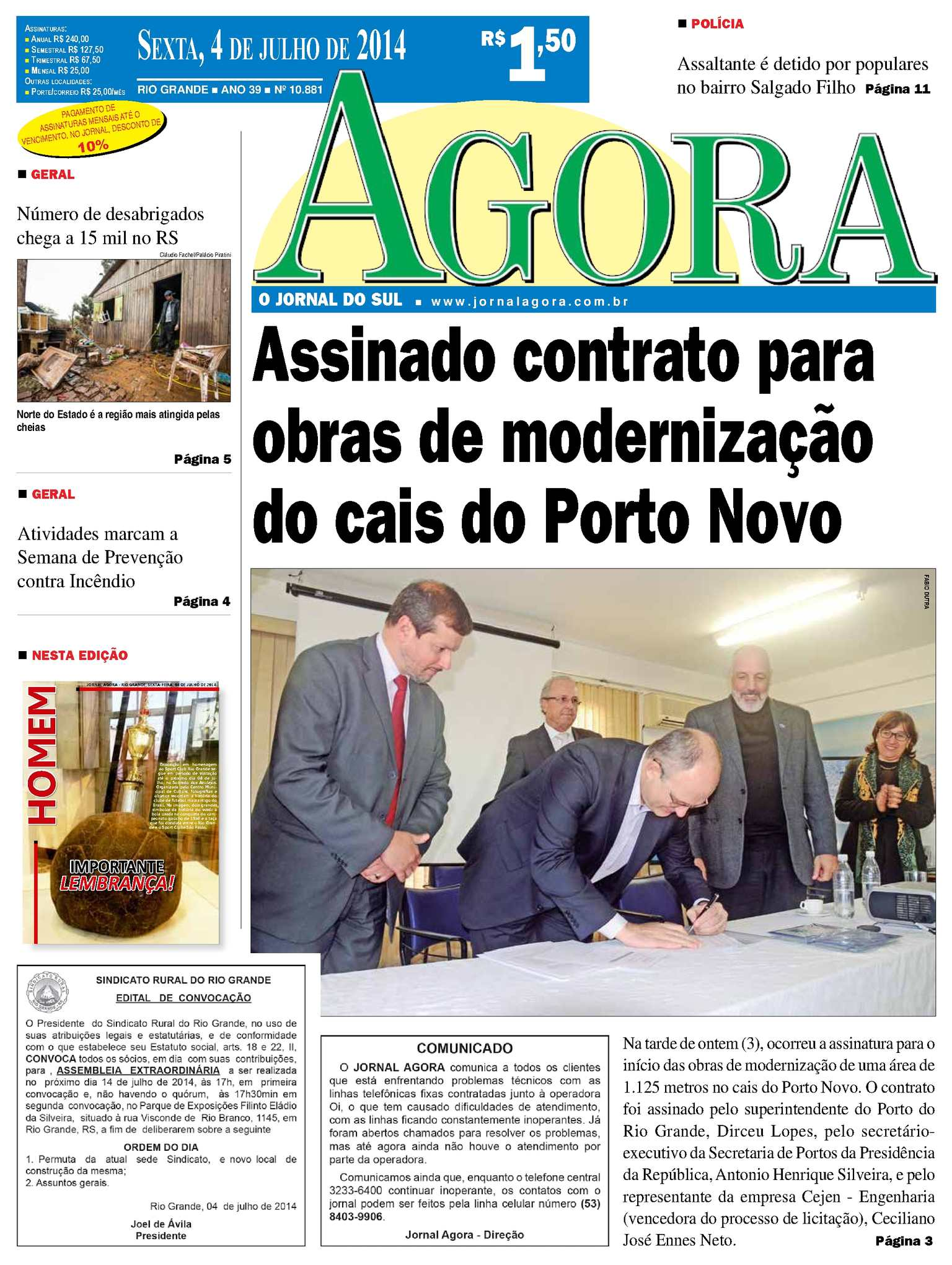 Calaméo - Jornal Agora - Edição 10881 - 4 de julho de 2014 6380360765607
