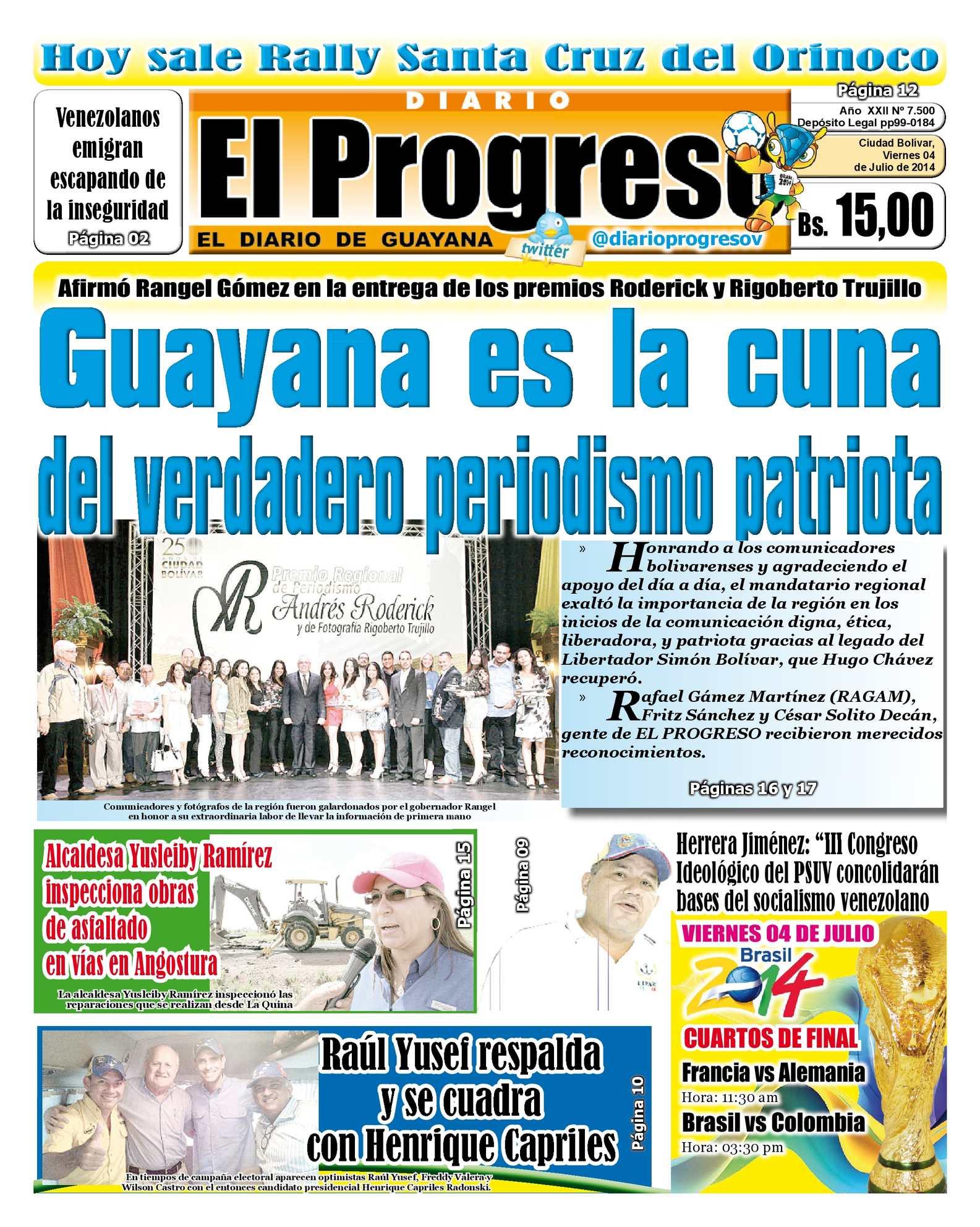 Calaméo - DIARIO EL PROGRESO EDICIÓN DIGITAL 04-07-2014 51b7defaca7