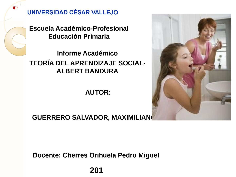 APRENDIZAJE SOCIAL DE BANDURA- EDUCACIÓN PRIMARIA