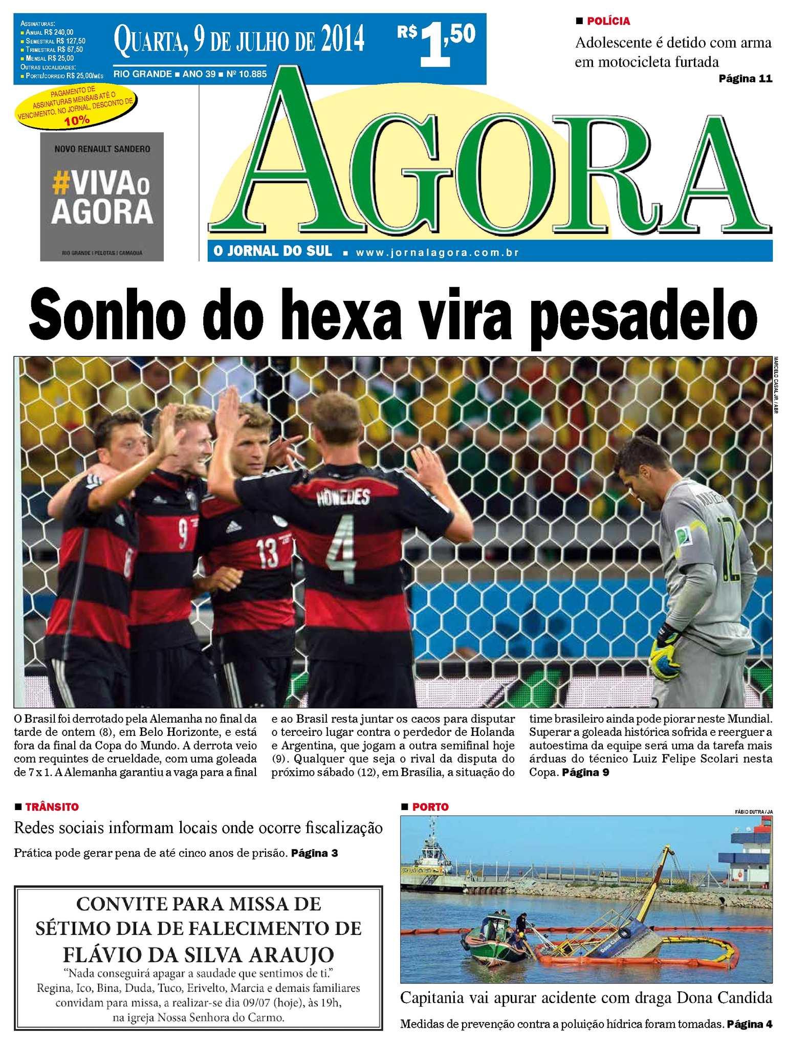 f6eb6cf3a Calaméo - Jornal Agora - Edição 10885 - 9 de julho de 2014
