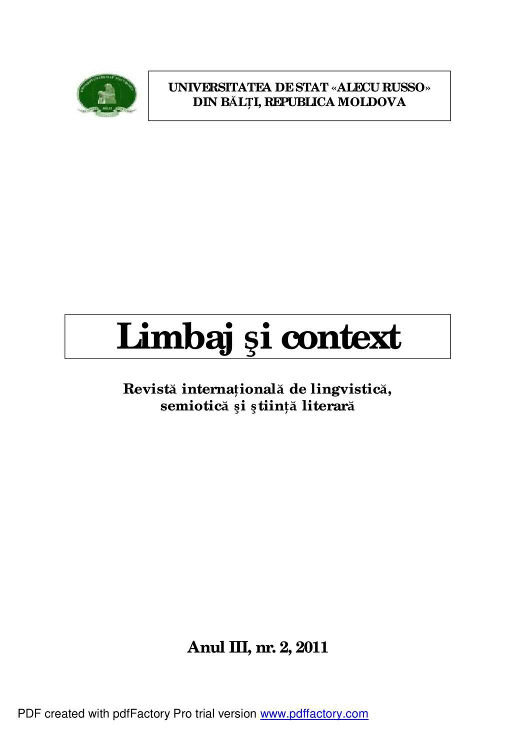 Calaméo - Speech and Context, vol. 2, 2011