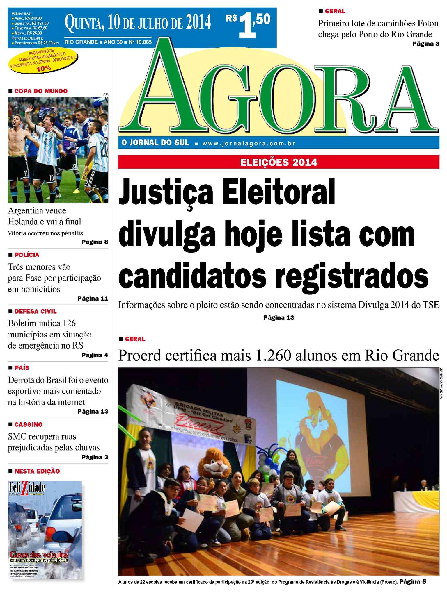 da2628946ac Calaméo - Jornal Agora - Edição 10886 - 10 de julho de 2014