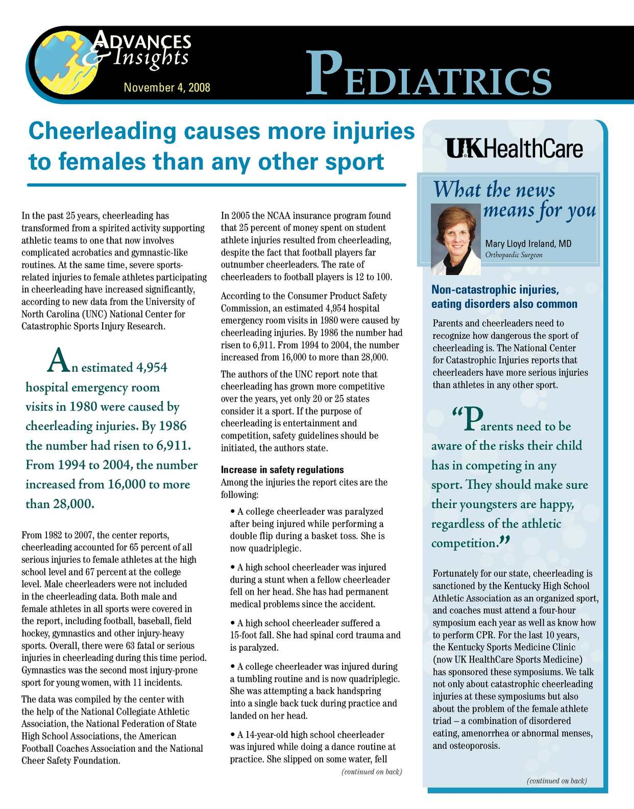 Calaméo - Cheerleading causes more injuries to females than