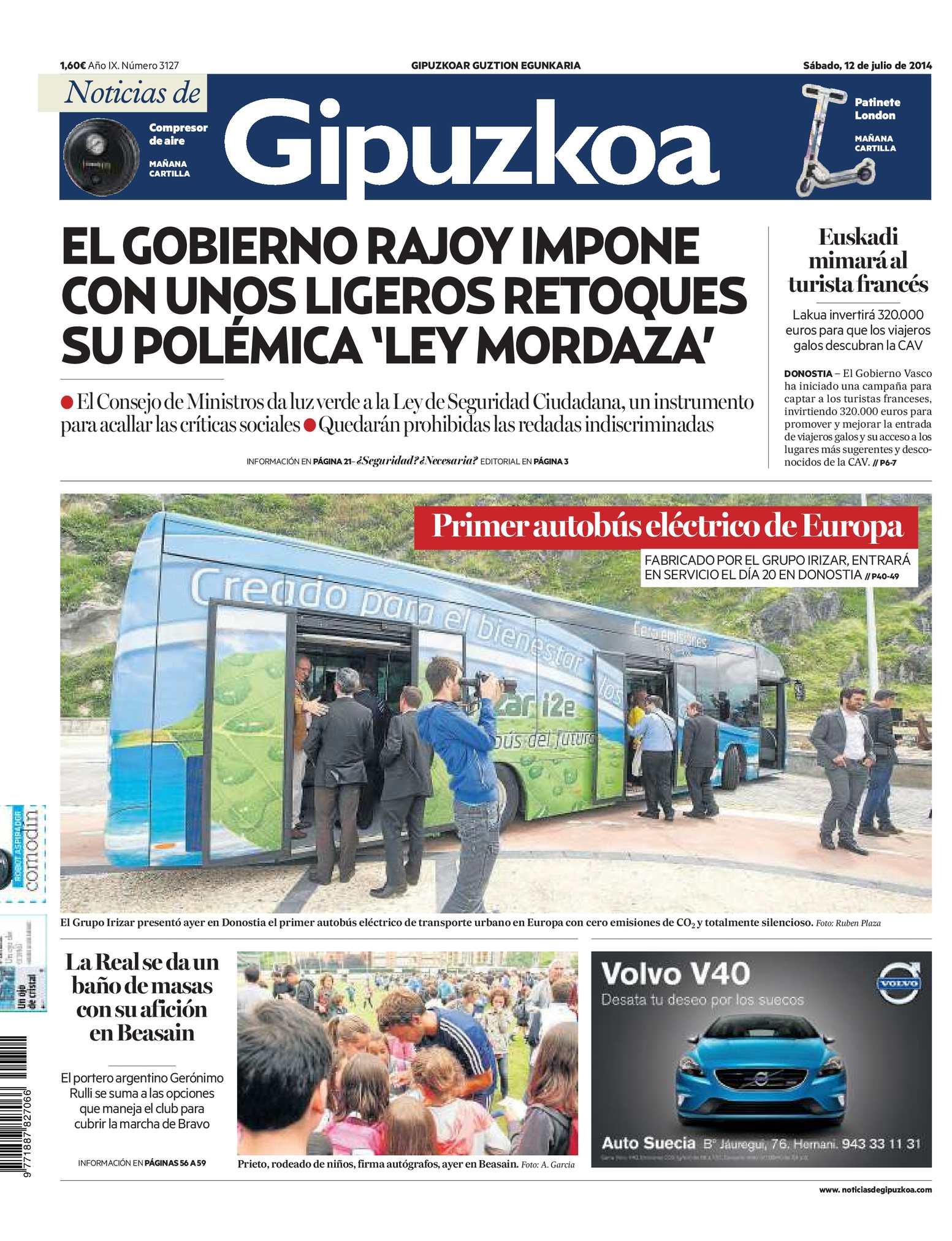 234abbbaa3 Calaméo - Noticias de Gipuzkoa 20140712