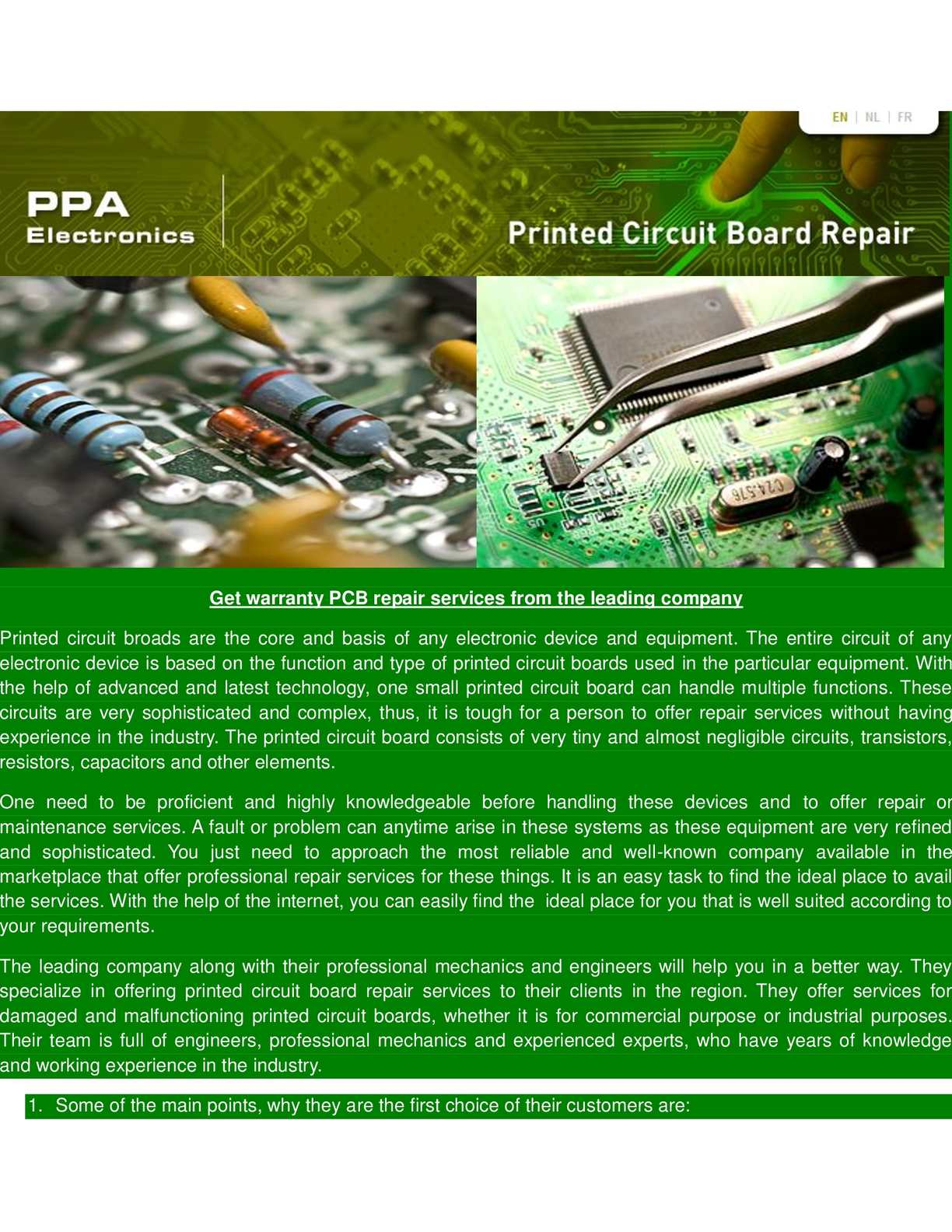 Calamo Ppa Electronics Circuit Board Electronic Repair
