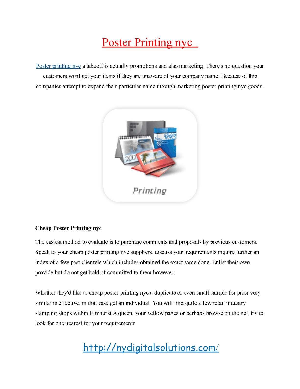 Calaméo - poster printing nyc