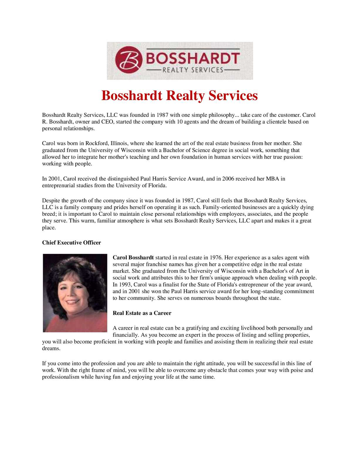 Calaméo - Bosshardt Realty Services