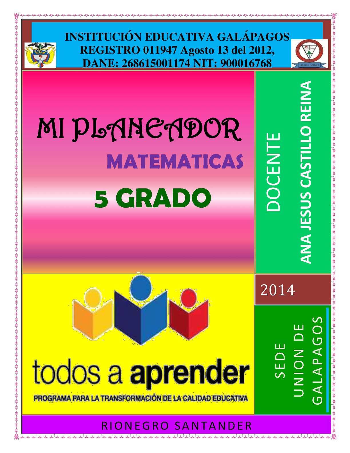 Calameo Libro Matematicas Quinto