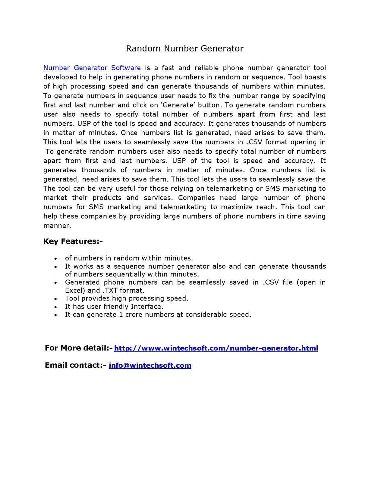 Calaméo - Random number generator wintechsoft