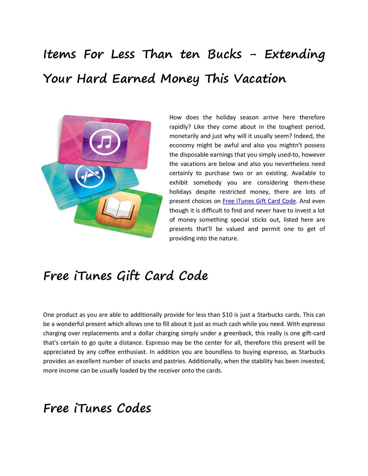 Calaméo - Free iTunes Gift Card Code