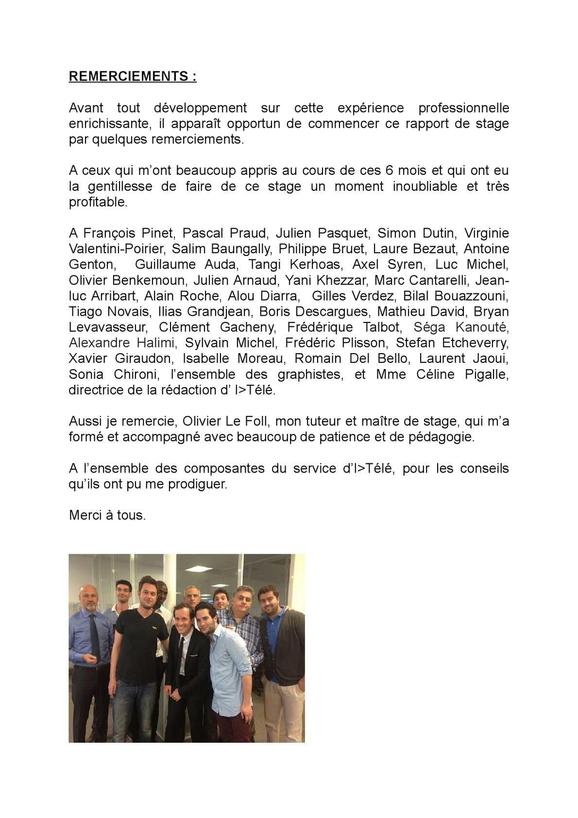 Calaméo Remerciements Rapport De Stage