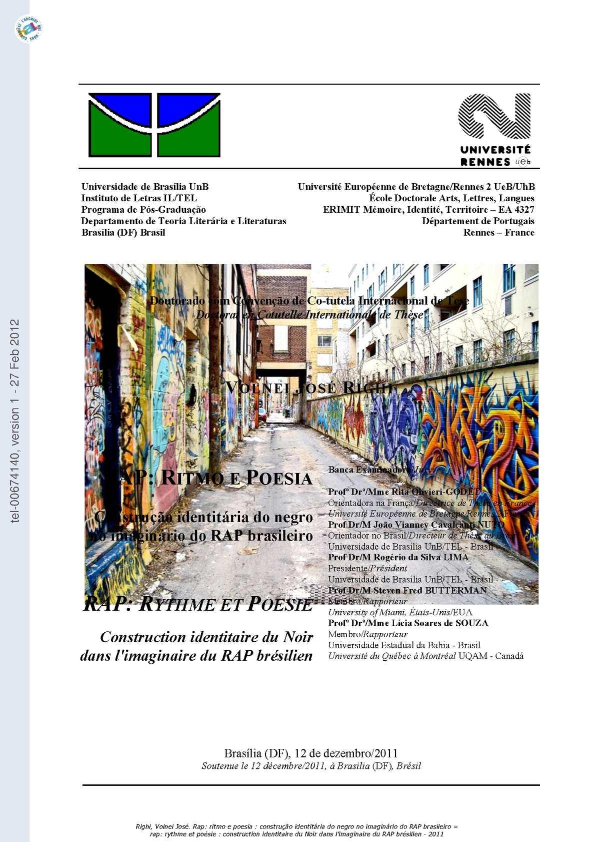 acaa65461 Calaméo - RAP: RITMO E POESIA # VOLNEI JOSÉ RIGHI - Universidade de  Brasília-UnB 2012