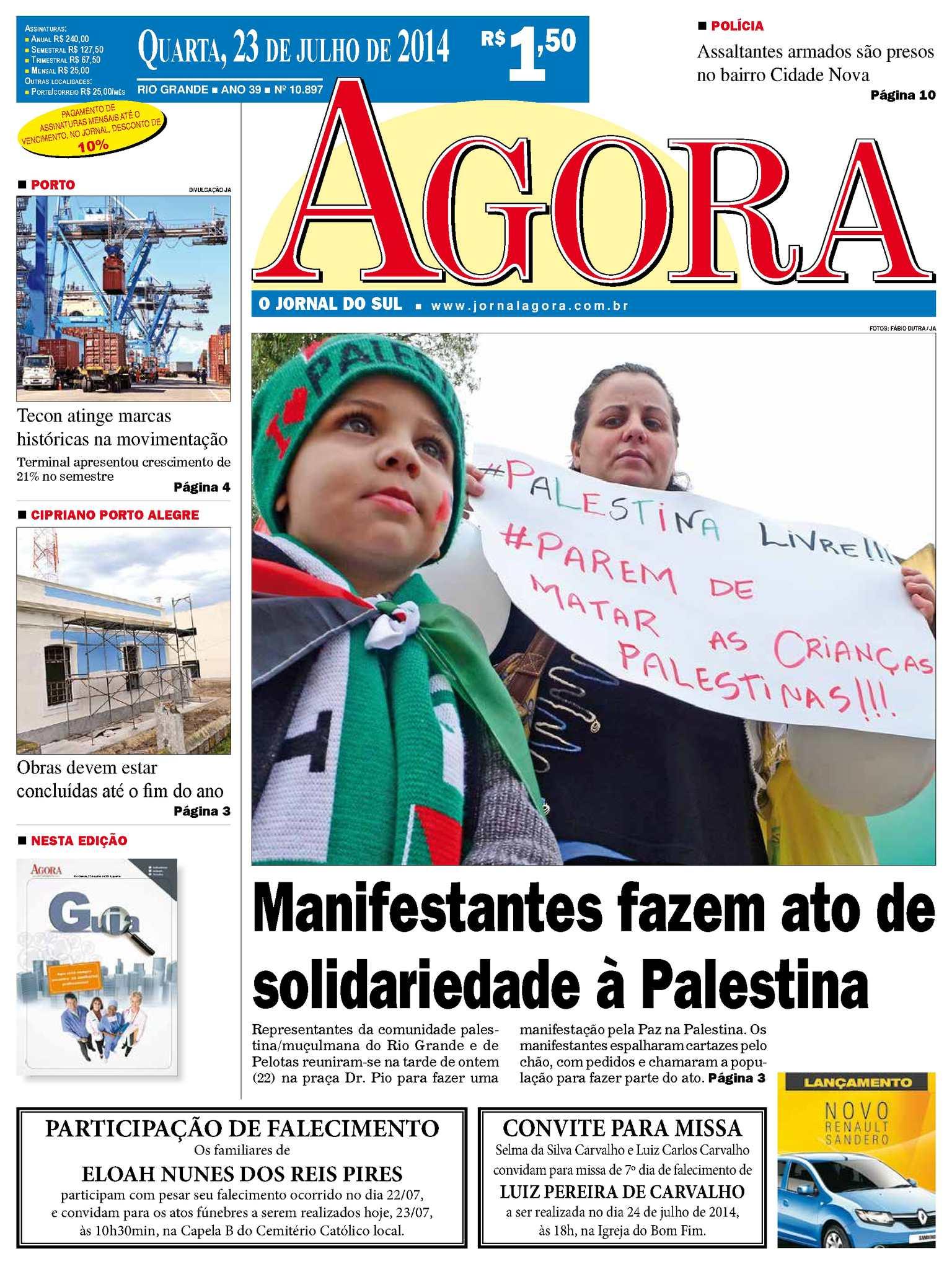 e9bd544b08283 Calaméo - Jornal Agora - Edição10897 - 23 de julho de 2014