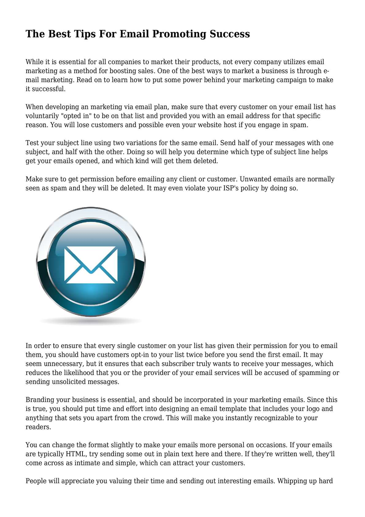 Calaméo The Best Tips For Email Promoting Success