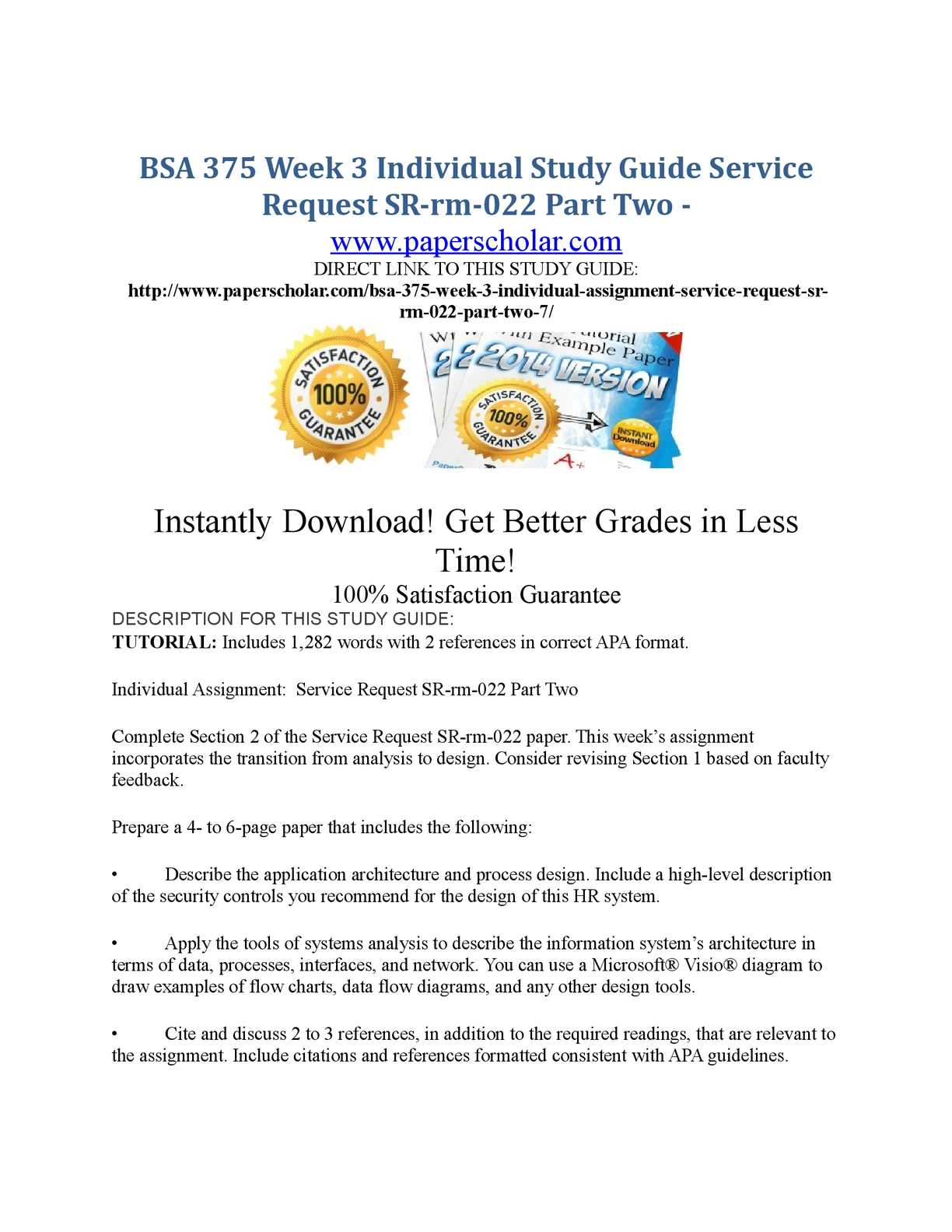 Calaméo - BSA 375 Week 3 Individual Study Guide Service