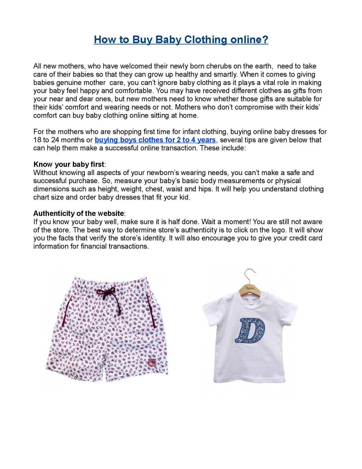 53f8e78ad16 Calaméo - How to Buy Baby Clothing online