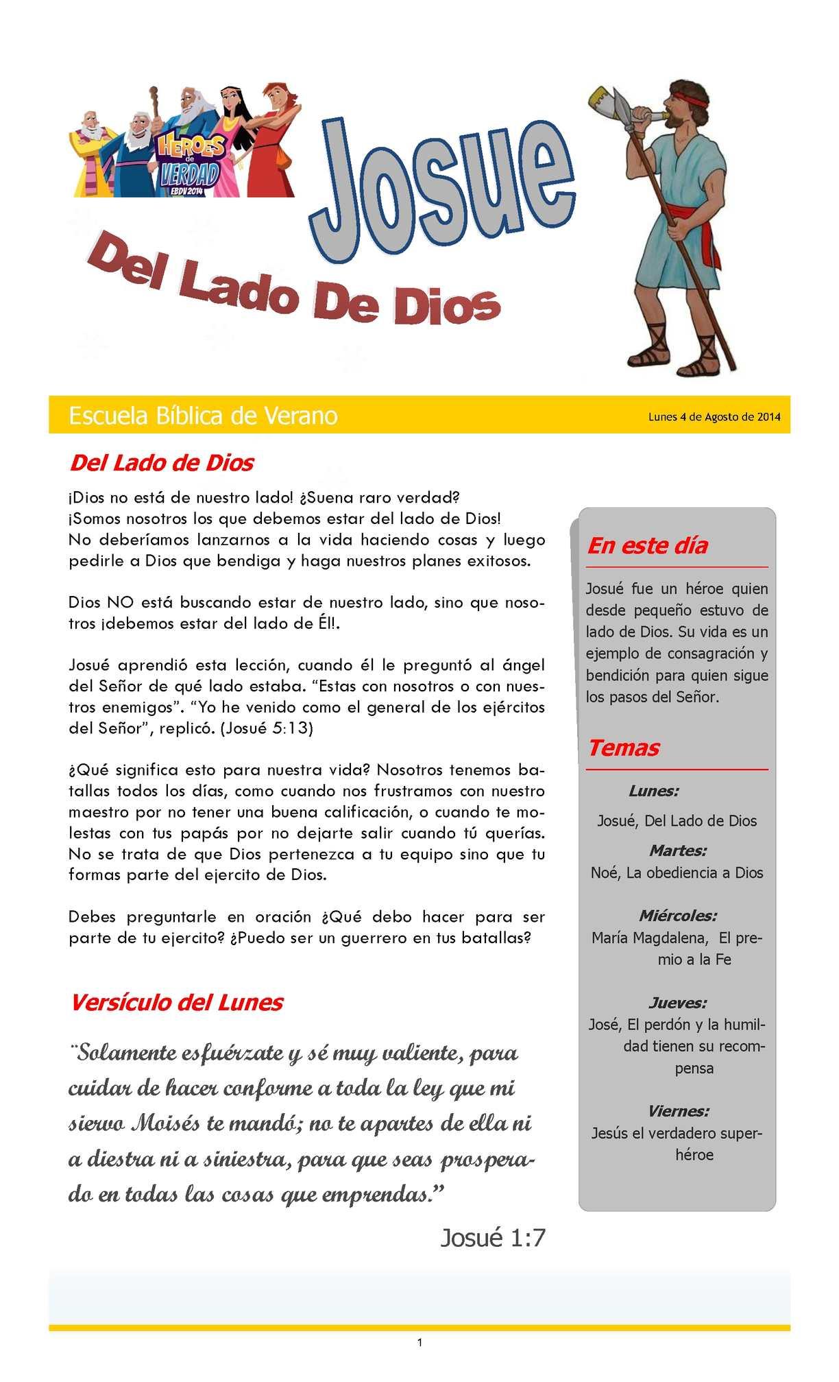 Calaméo - Josue, del lado de Dios