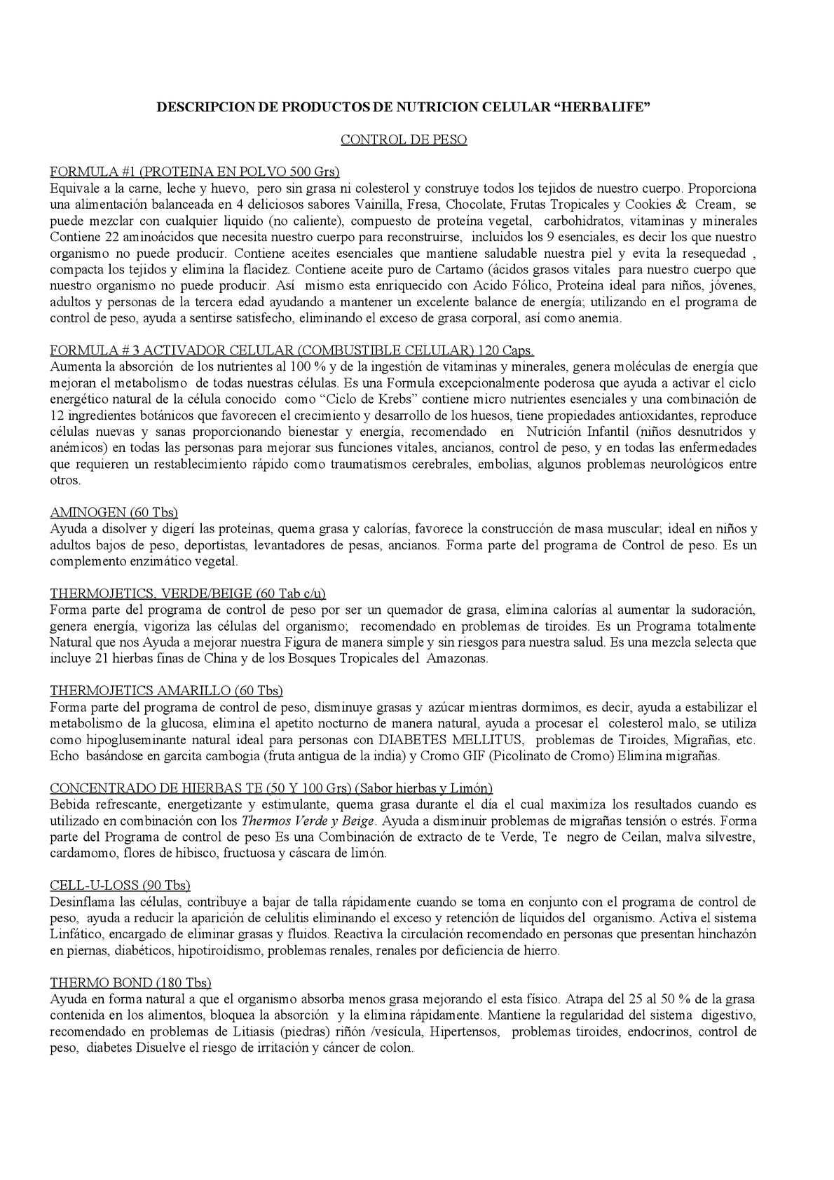 Calaméo Descripcion De Los Productor Herbalife Los Productor Herbalife No Son Medicamentos
