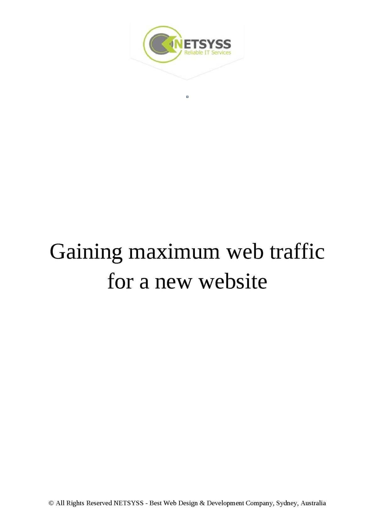 Calaméo - Gaining maximum web traffic for a new website