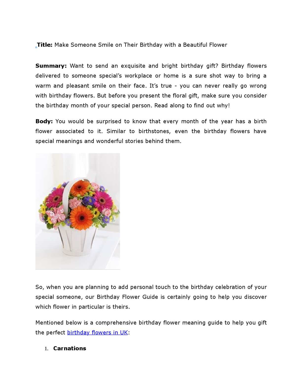 Calaméo - Make Someone Smile on Their Birthday with a Beautiful Flower