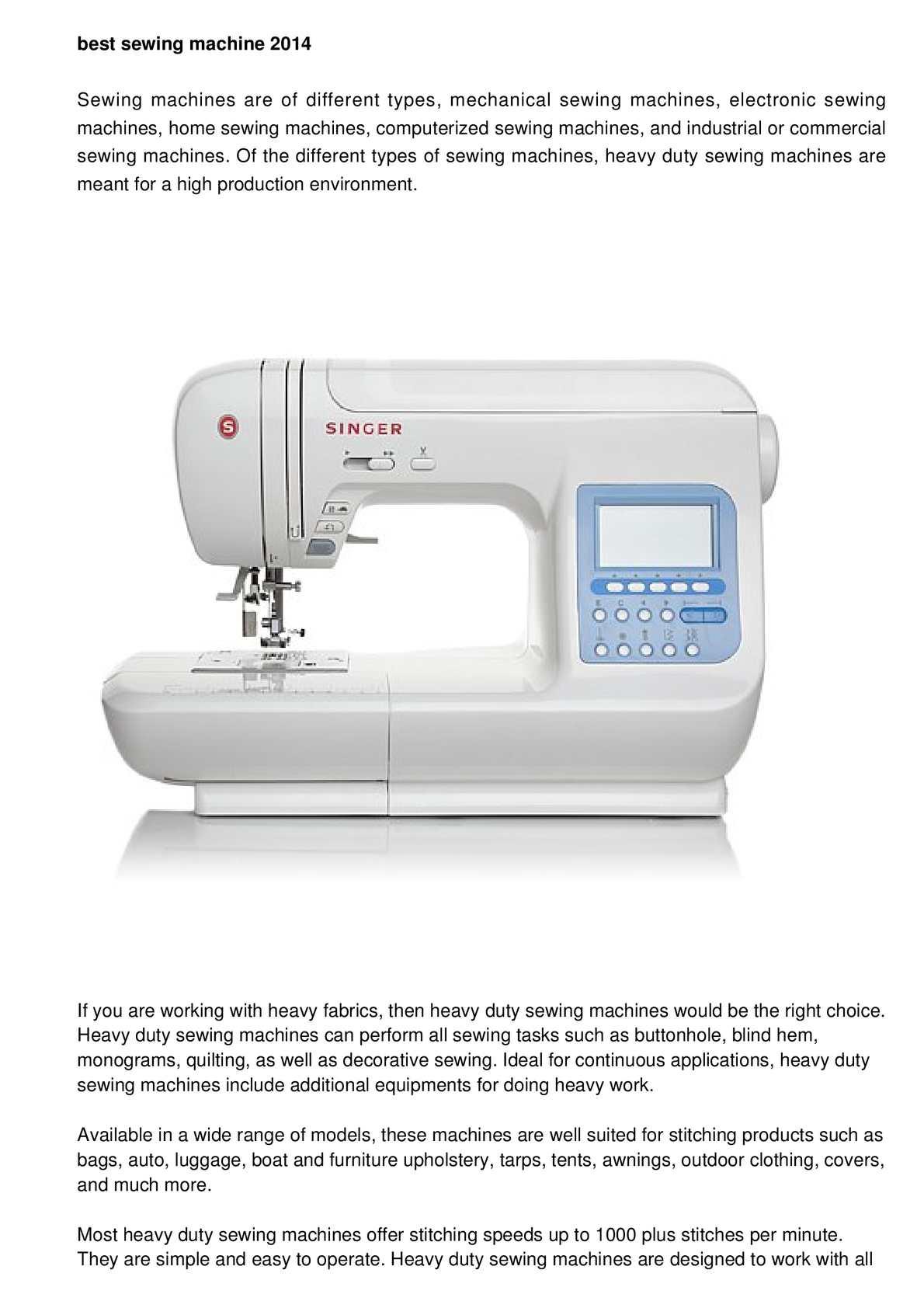 Calameo Sewing Machine Reviews