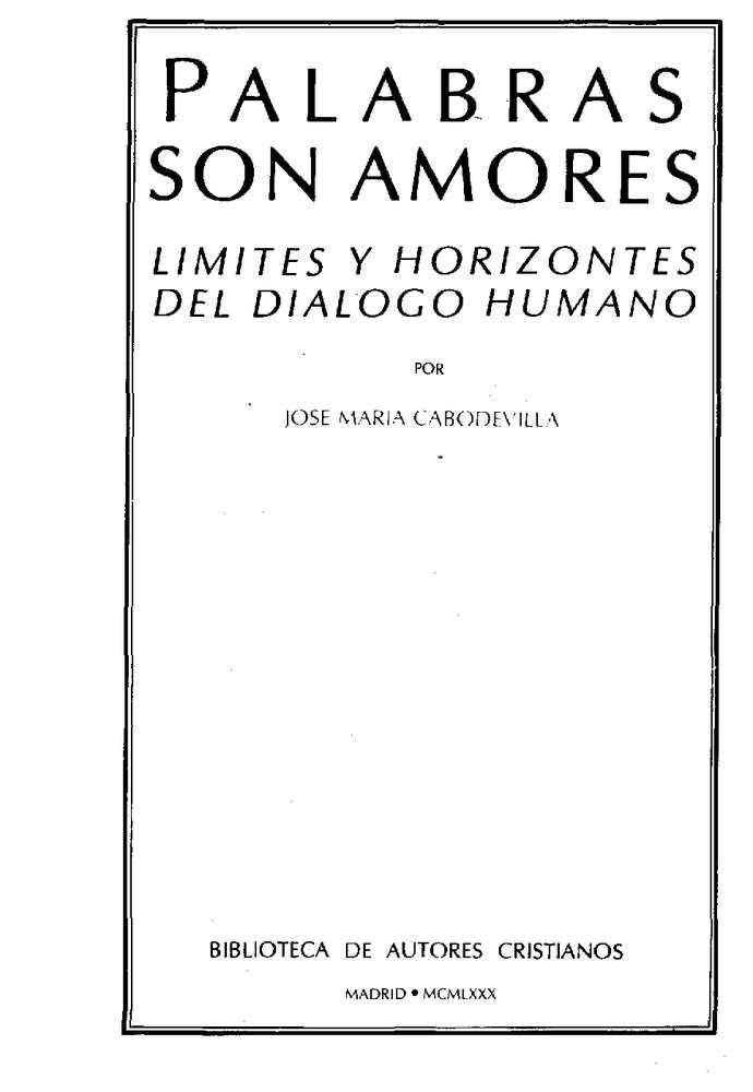 Calaméo Cabodevilla Jm Palabras Son Amores Limites Y