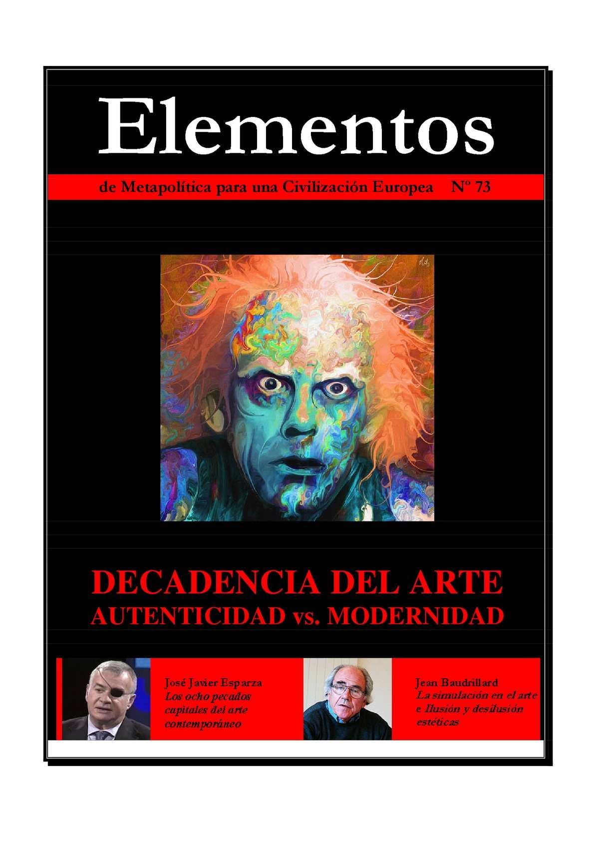 Calaméo - Elementos 73   La decadencia del arte - autenticidad vs.  modernidad 316195385ee