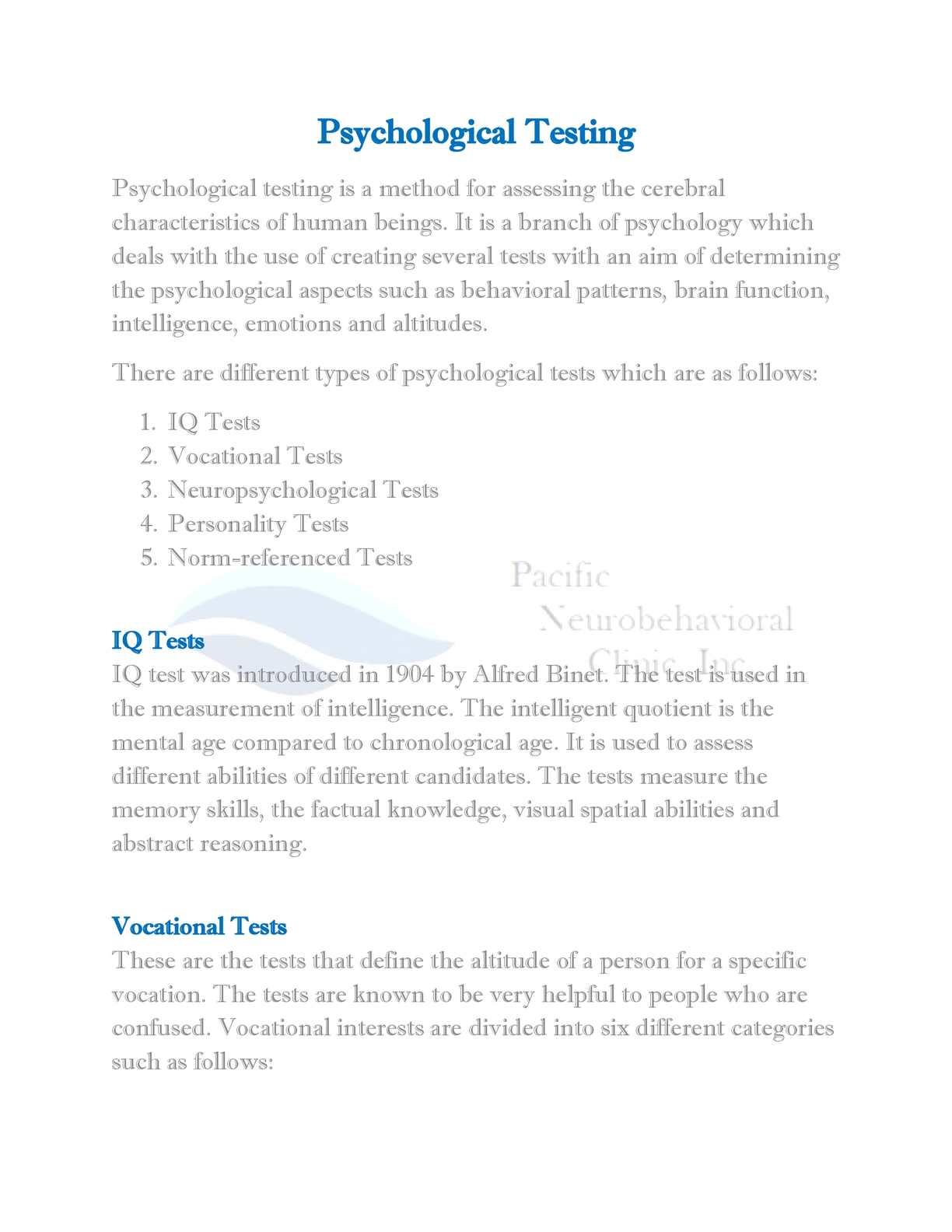 Calaméo - Psychological Testing San Diego - www neuropacific com