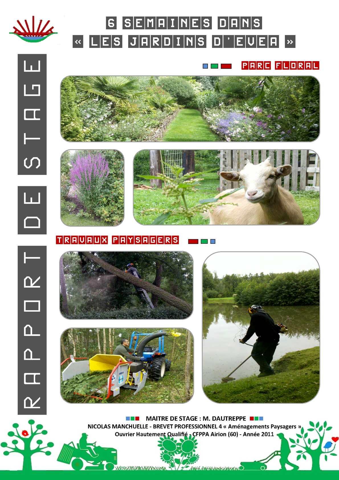 Calaméo - Rapport de stage BP4 Aménagements paysagers, Jardins d ...