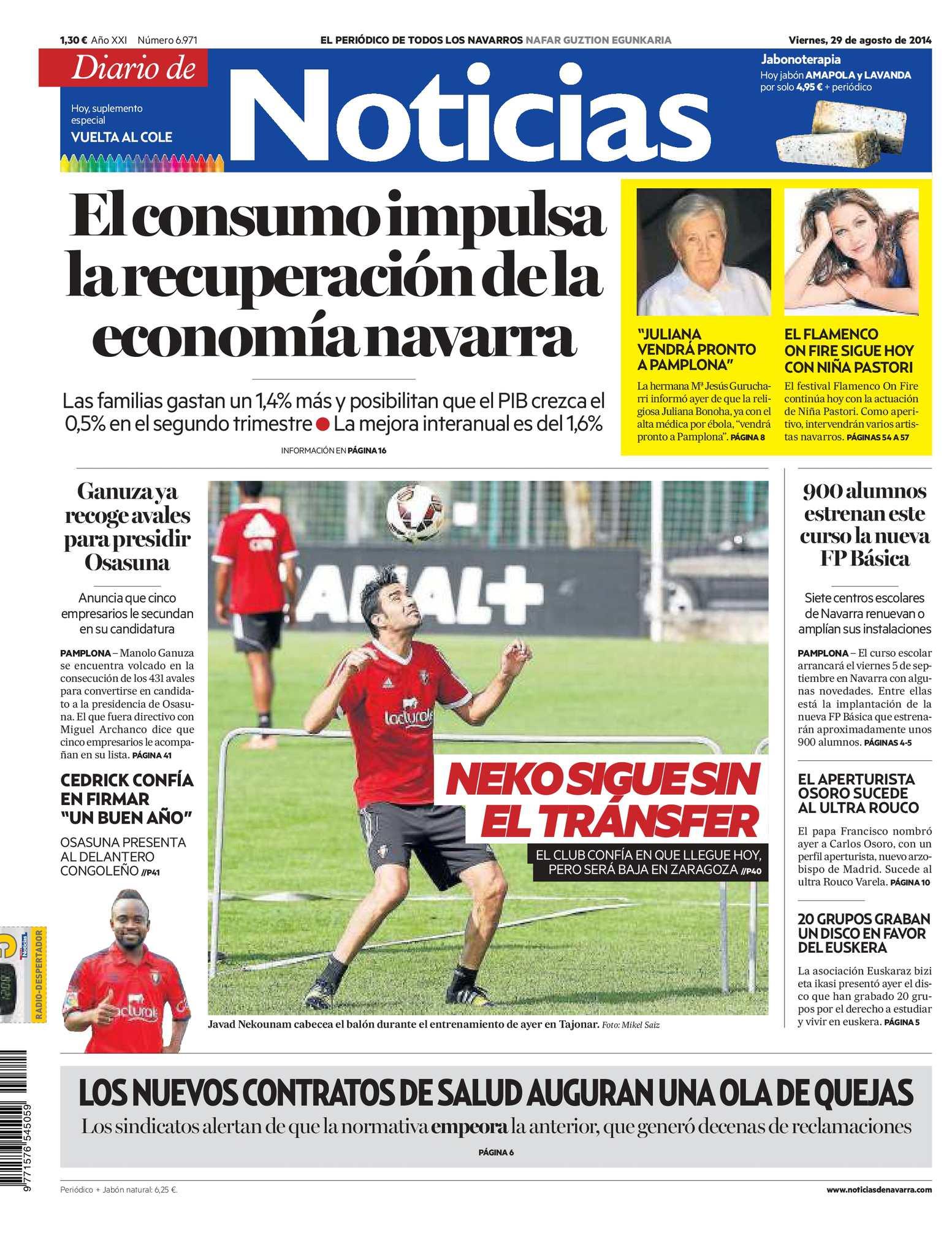 7a16fe467ccab Calaméo - Diario de Noticias 20140829