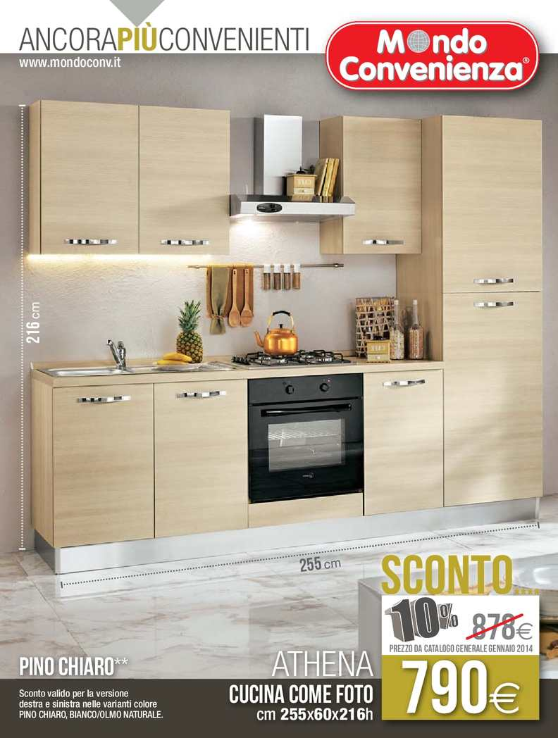 Calam o catalogo mondo convenienza cucine 2014 for Cucine catalogo