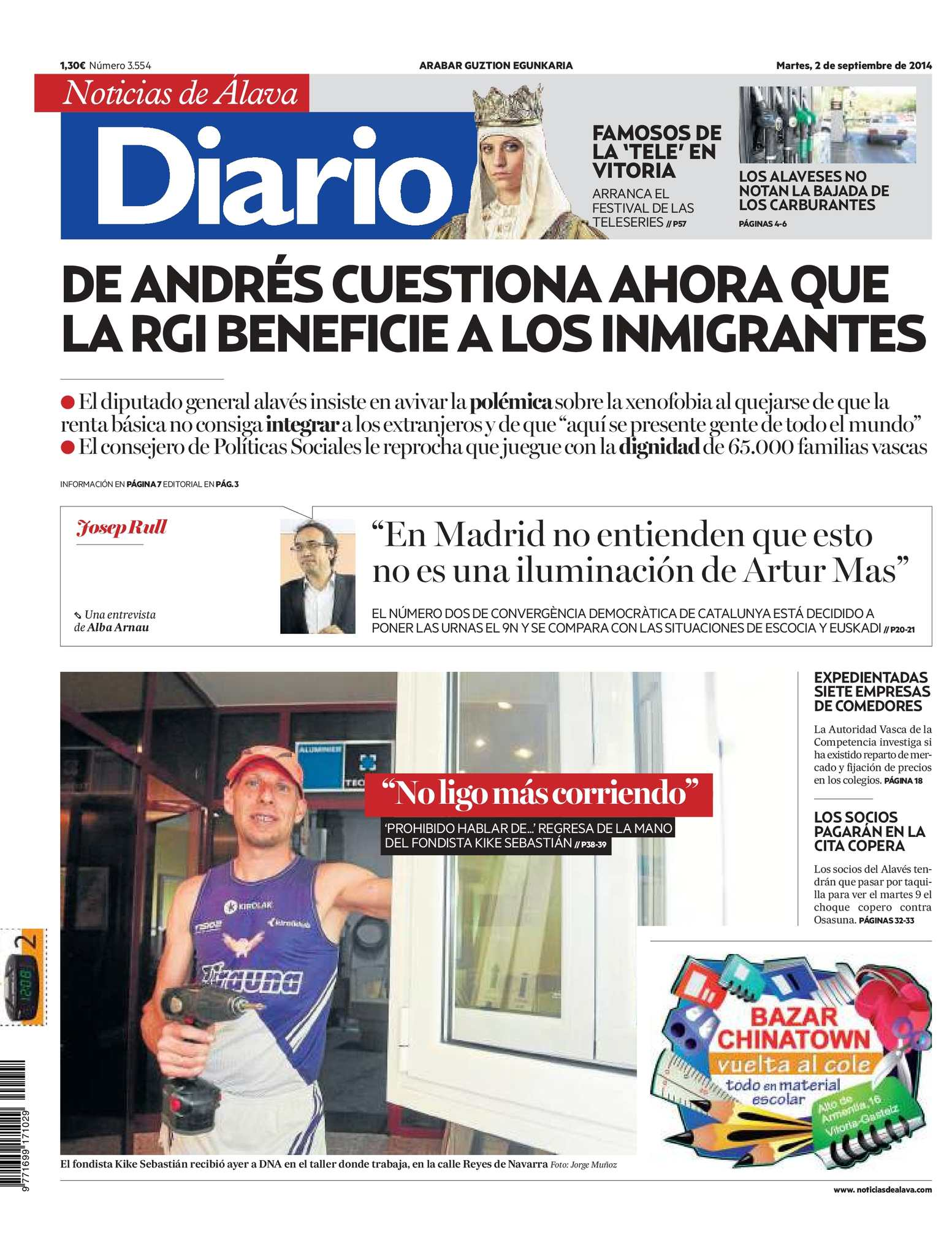 Javier Banos Agorria.Calameo Diario De Noticias De Alava 20140902