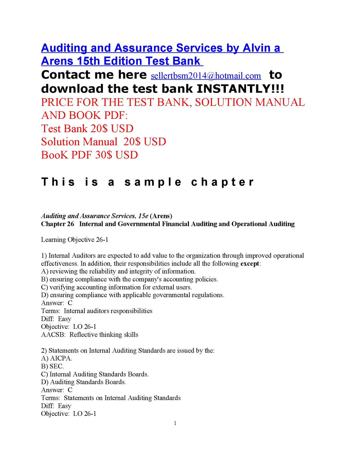 Internal Auditing Book