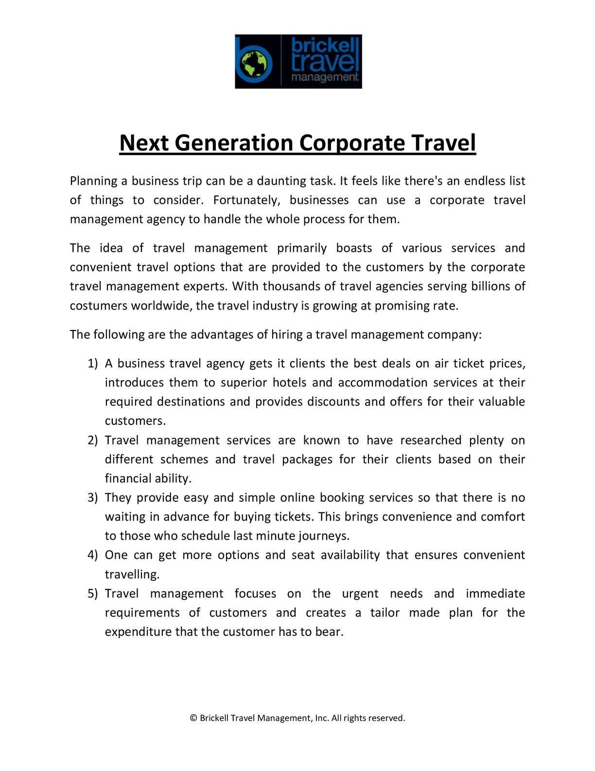 Calaméo - Next Generation Corporate Travel