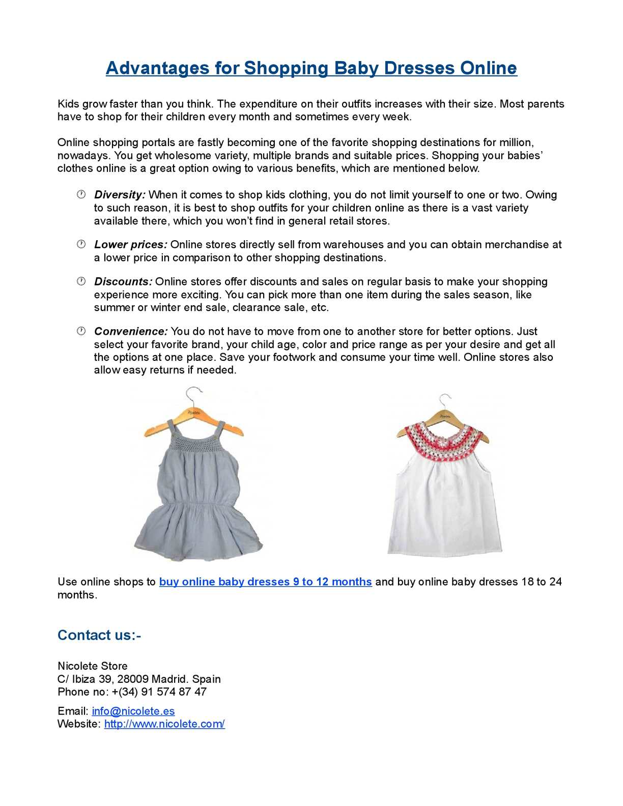 Calaméo - Advantages for Shopping Baby Dresses Online