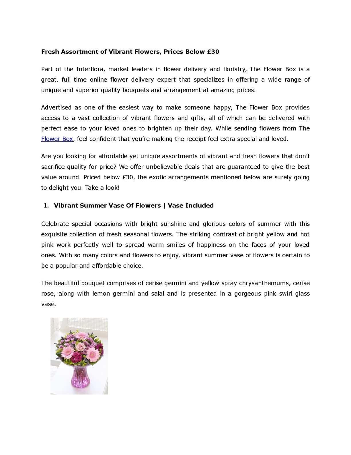 Calameo Fresh Assortment Of Vibrant Flowers Prices Below 30