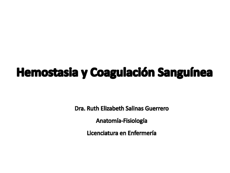 Concepto hemostasia