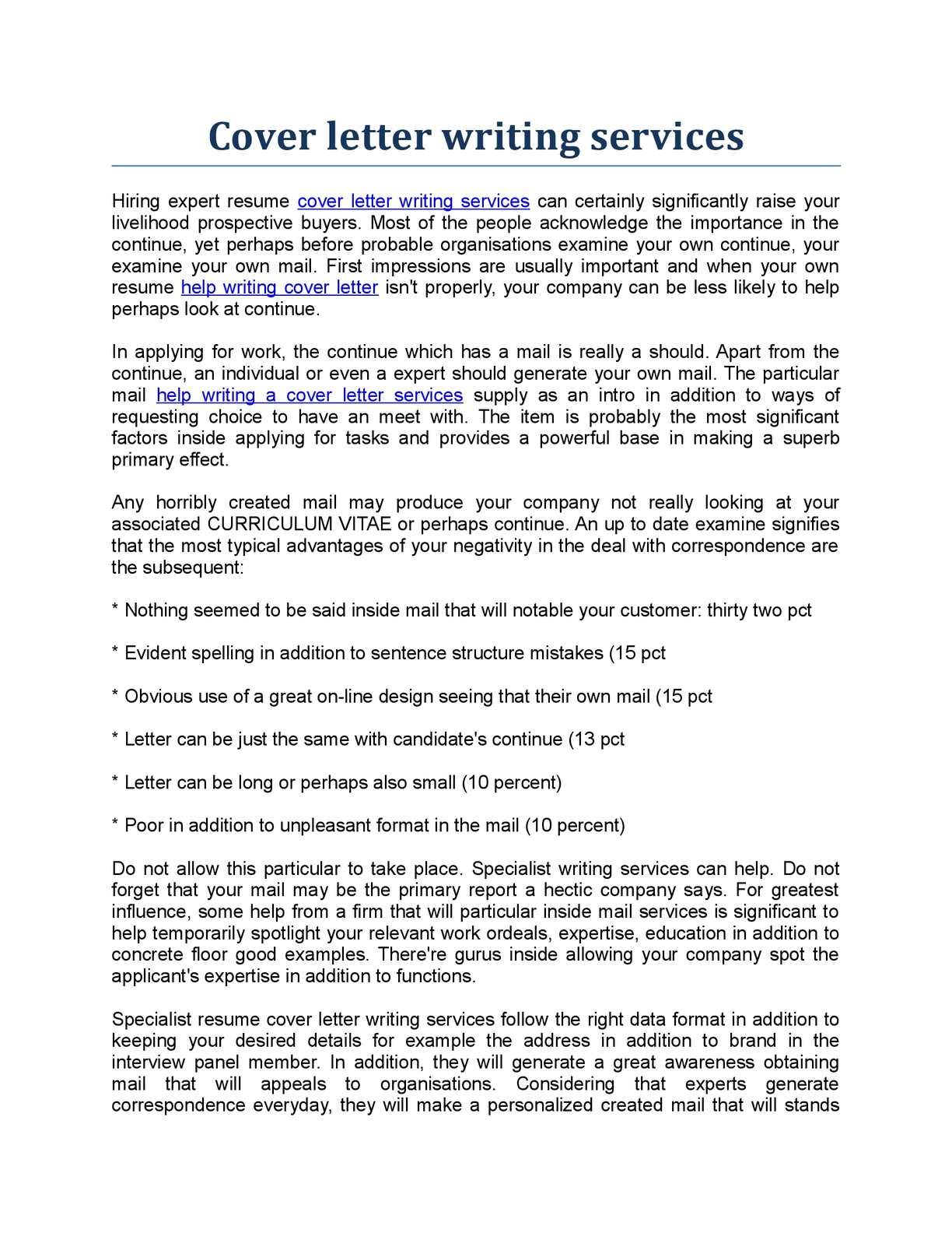 Calam O Cover Letter Writing Services