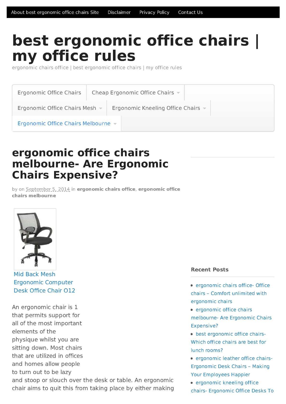 Calameo Best Ergonomic Office Chairs