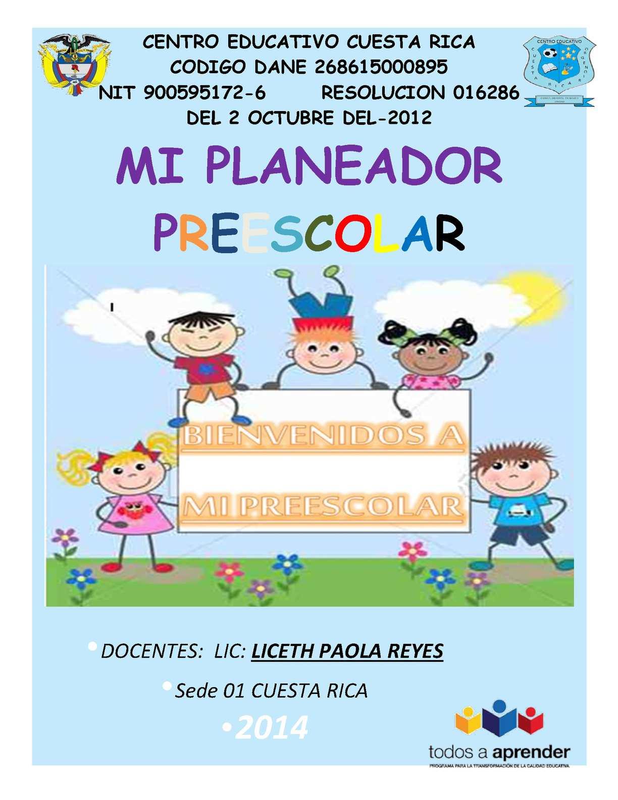 Calaméo Planeación De Clases Preescolar Doc Liceth Paola