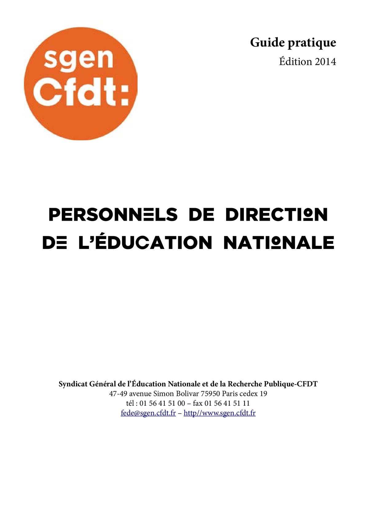 5e2780020ed Calaméo - Guide Sgen-CFDT des Personnels de Direction - édition 2014