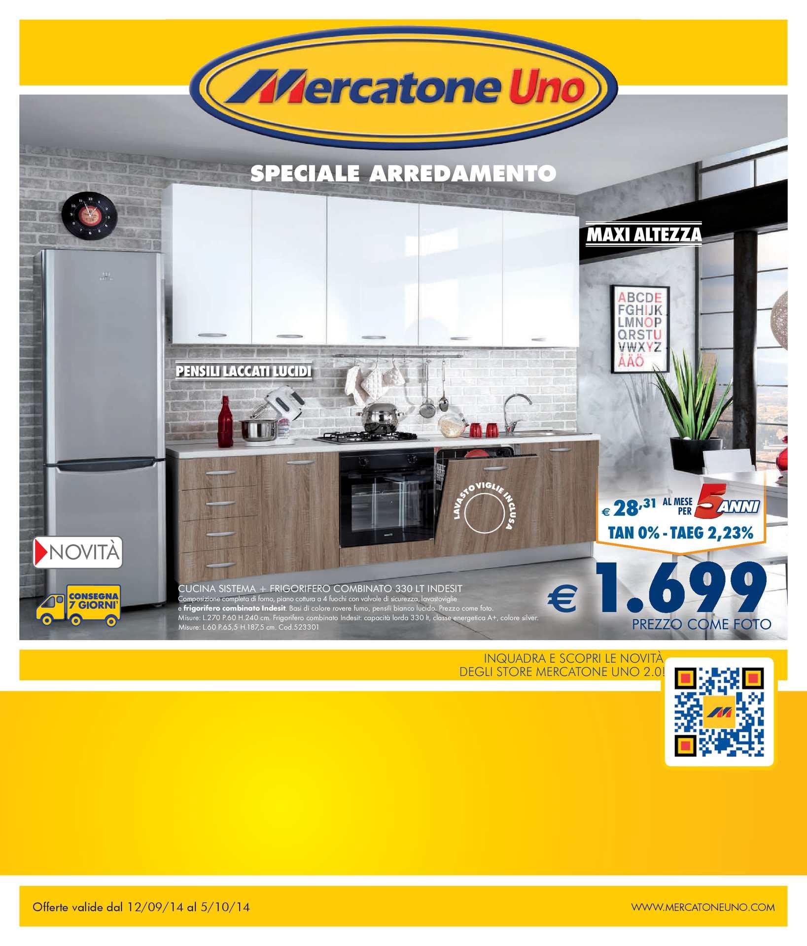 Armadio 2 Ante Mercatone Uno.Calameo Volantino Mercatone Uno Dal 12 Settembre Al 5 Ottobre 2014